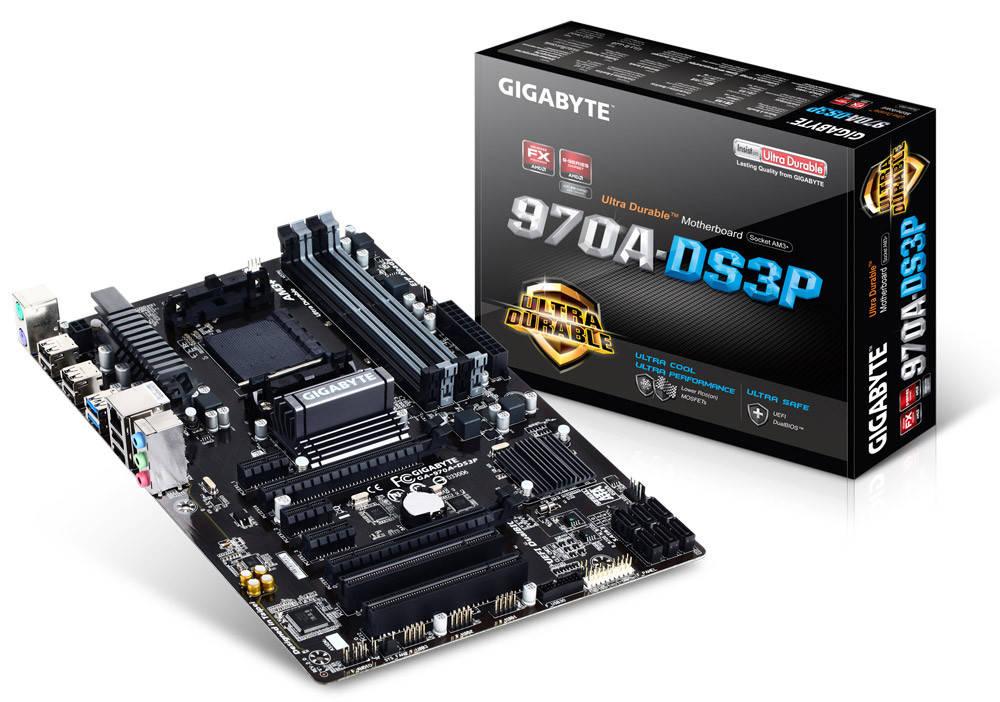 "Материнская платаGIGABYTE GA-970A-DS3P sAM3+ DDR3 ""Over-Stock"" Б/У"