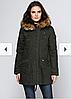 Куртка парка жіноча Monte Cervino (розмір L) темно-зелена