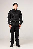 Черный мужской костюм для охраны Титан Грета