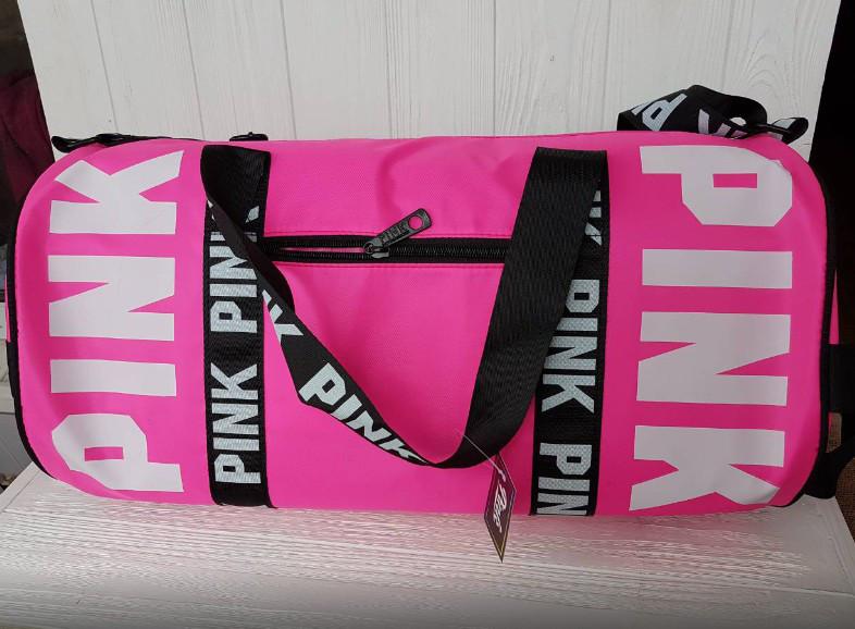 d3515ce1502d3 Сумка дорожная, спортивная розовая женская Pink Victoria's Secret 1733, ...
