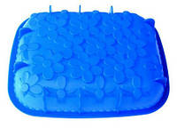Форма силиконовая для выпечки (Прямоугольная с ромашками)  31х25х5 см