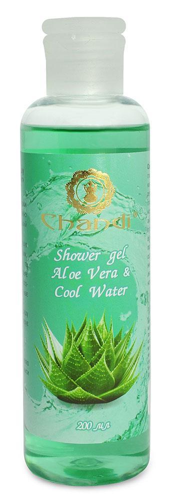 "Индийский гель для душа ""Aloe Vera & Cool Water"" Chandi, 200мл"