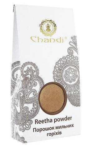 Порошок мыльных орехов (Reetha рowder) Chandi, 100г, фото 2