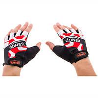 Спортивные перчатки без пальцев Ronex, RLF-501(08)-XS, рр. XS,S,M