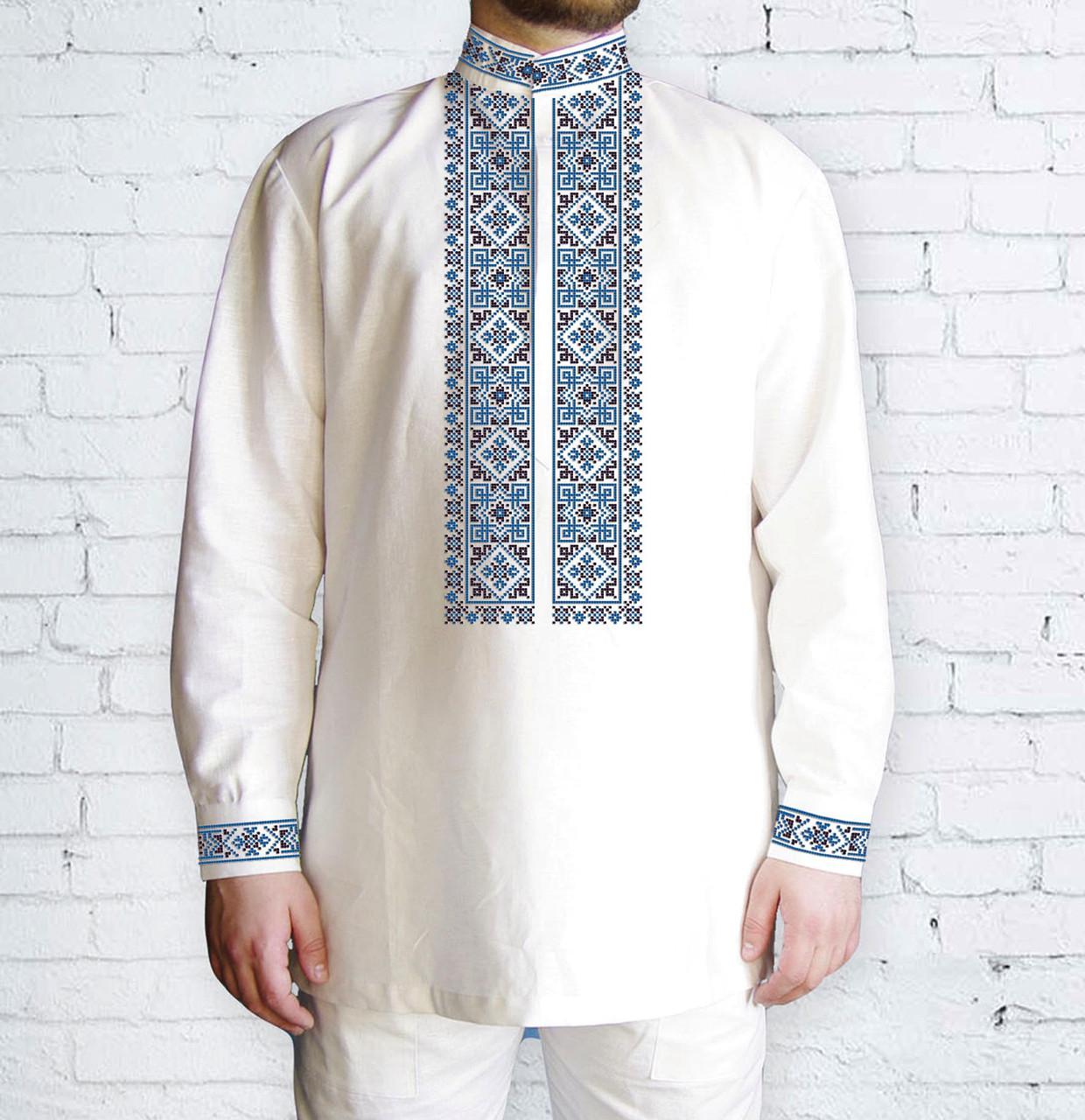 Заготовка чоловічої сорочки та вишиванки для вишивки чи вишивання бісером Бисерок «Орнамент 506 Г» (Ч-506  Г )