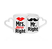 "Парные чашки ""Mrs always Right... Mr Right"""