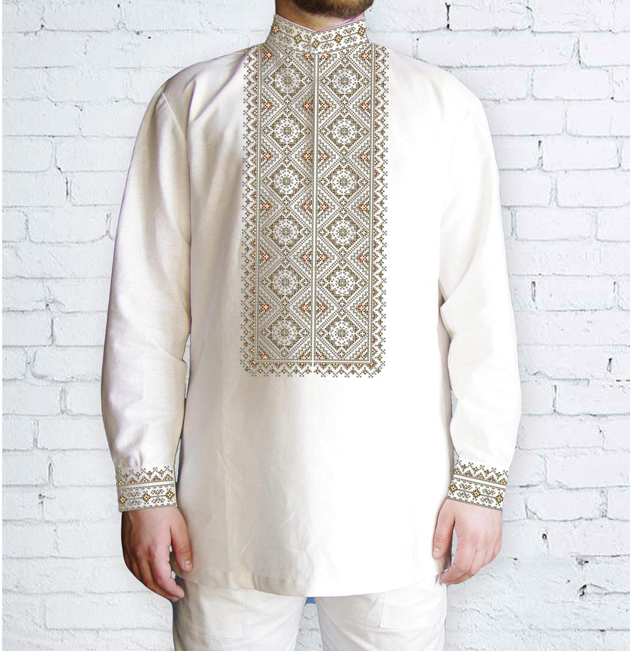 Заготовка чоловічої сорочки та вишиванки для вишивки чи вишивання бісером Бисерок «Орнамент 572 К» (Ч-572 К )