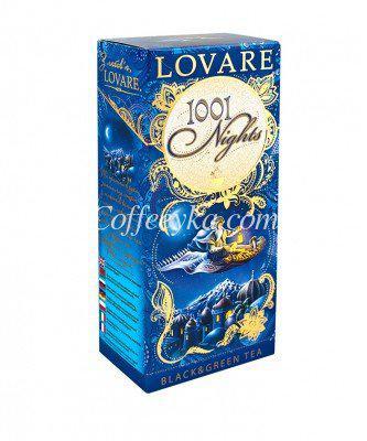 Смесь черного и зеленого чая с фруктами и лепестками цветов Lovare 1001 Ночь пакетированный 24х2 г