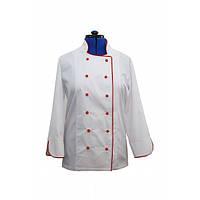Китель белый с красным кантом для повара (L)