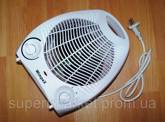 Обогреватель электрический Wimpex FAN HEATER WX-424 бытовой тепловентилятор  дуйка, дуйчик, фото 2