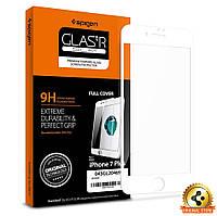 Защитное стекло Spigen для iPhone 7Plus Full Cover, White  , фото 1