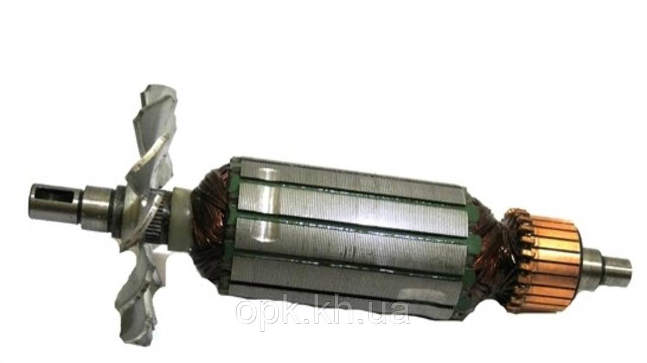 Якорь тст-н болгарки Interkrenn EWS-115 SS, Evrotec 125 (32*152 мм, хвостовик - шпонка 8 мм)