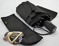 Мужской складной зонт черный полуавтомат