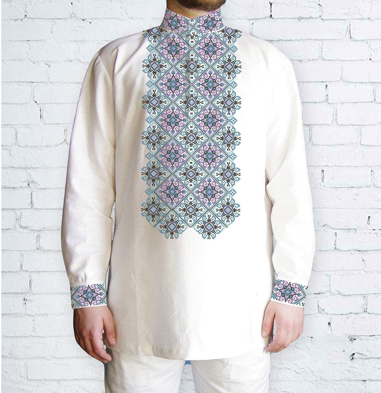 Заготовка чоловічої сорочки та вишиванки для вишивки чи вишивання бісером Бисерок «Орнамент 532» (Ч-532 )
