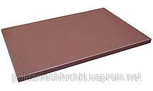 Доска разделочная пластиковая 50х35х2 см. прямоугольная, коричневая Durplastics