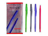 """Ручка шариковая масло """"Radius"""" """"MATRIXX"""" корпус цветной, синяя"""