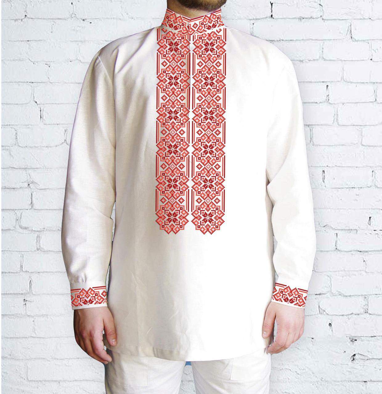 Заготовка чоловічої сорочки та вишиванки для вишивки чи вишивання бісером Бисерок «Орнамент 531 Ч» (Ч-531 Ч  )