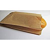 Пакет бумажный саше для хлеба бурый крафт 350х220х50 мм 1000 шт/уп