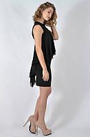 Вечернее короткое чёрное платье MIANOTTE Турция 17К1468, фото 1