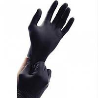 Перчатки нитриловые нестерильные неопудренные черные L, (разм.8-9) 100шт/уп