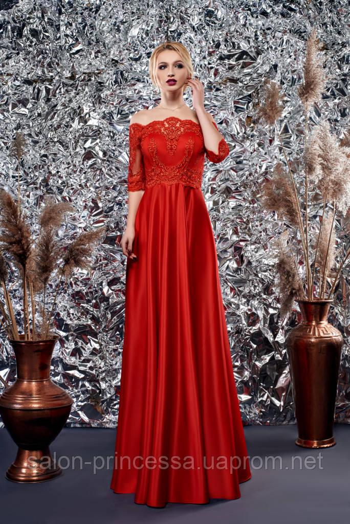 17beb15ac5e Выпускное вечернее красное платье (Т-2018-42) - Свадебный салон