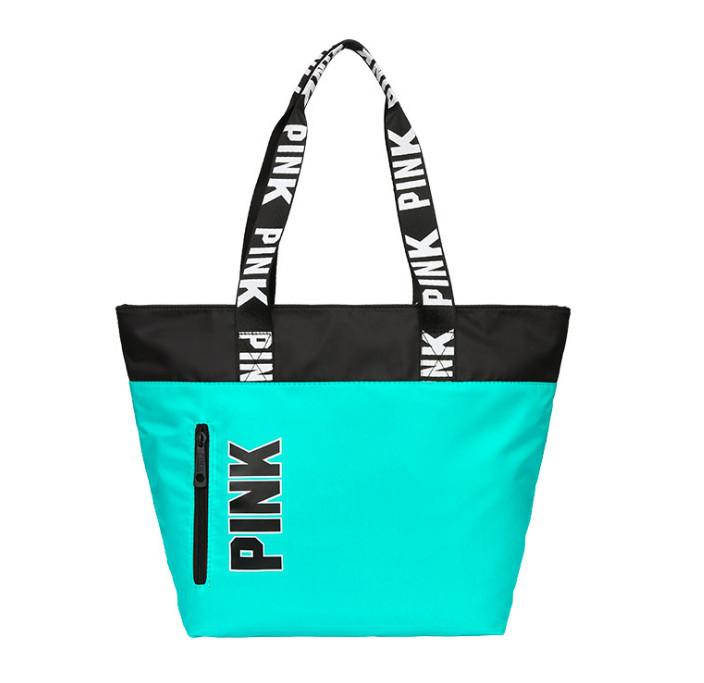 Сумка жіноча пляжна мятна Pink Victorias Secret 1734 - SvitStyle