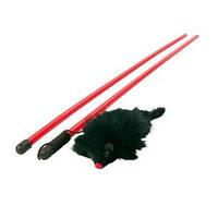TRIXIE (Трикси)  Удочка с плюшевой мышкой 50см - игрушка для кошек