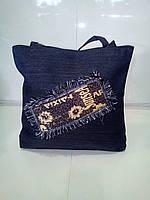 Женская джинсовая сумка 29х30 см, фото 1