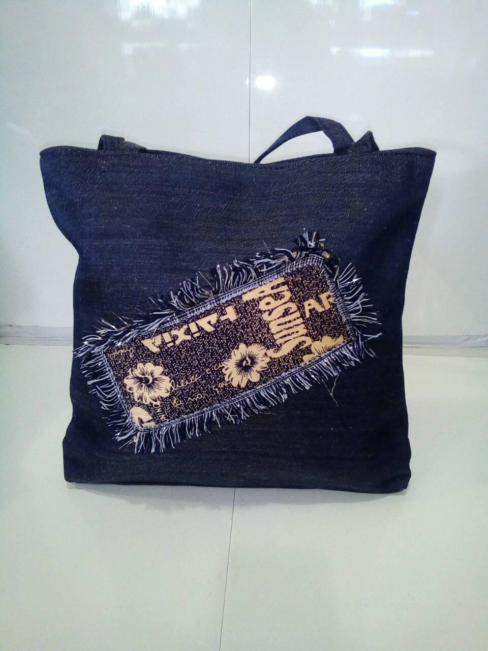 Женская джинсовая сумка 29х30 см