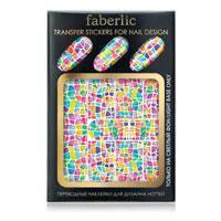"""Переводные наклейки для дизайна ногтей """"Карибская мозаика"""", Faberlic, Фаберлик, 7392"""