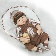 Кукла реборн 57 см полностью виниловый мальчик Митенька