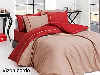 Постельное белье сатин First Choice (евро-размер) № Vizon Bordo, фото 1