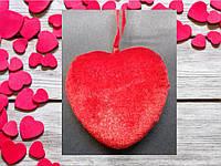 Валентинка сердечко из плюша