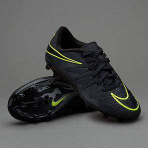 Детские Бутсы Nike Hypervenom Phelon II FG 744943-009 (Оригинал) Акция, фото 2
