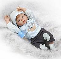 Кукла реборн 57 см полностью виниловый мальчик Егор