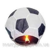 Небесный фонарик мяч черно-белый д.80 см
