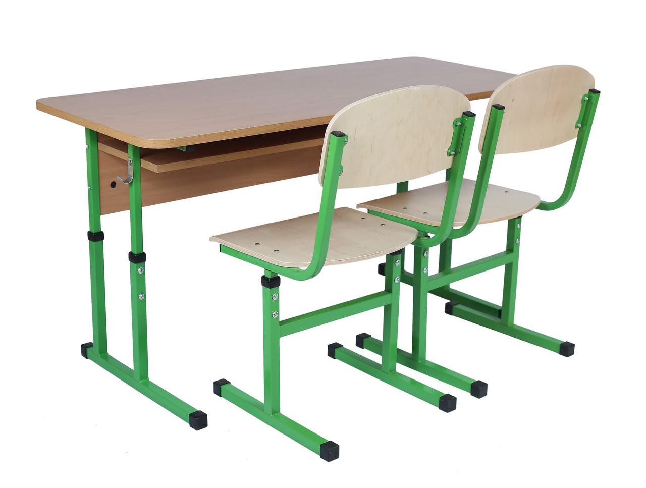 Комплект ученический регулируемый 2- местный (Парта 0157+2стула)