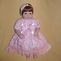 Кукла реборн 57 см полностью виниловая девочка Карина