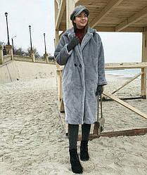 Плюшевое пальто oversize