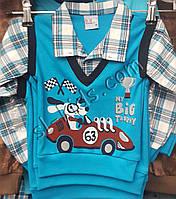 Рубашка-обманка для мальчика 86-98 см (рубашка) (пр. Турция)