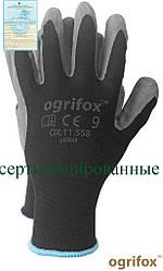 Перчатки защитные, изготовленные из полиэстера, покрытые латексом OX-LATEKS BS