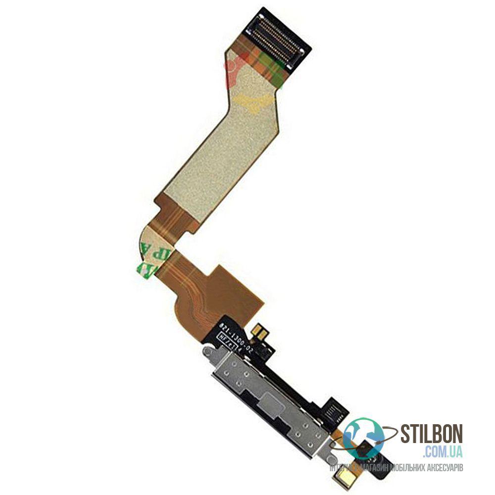 Шлейф порта зарядки для Apple iPhone 4S Original Black