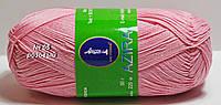Нитки пряжа для вязания хлопок Azira Victoria Азира Виктория № 05 - РОЗОВЫЙ