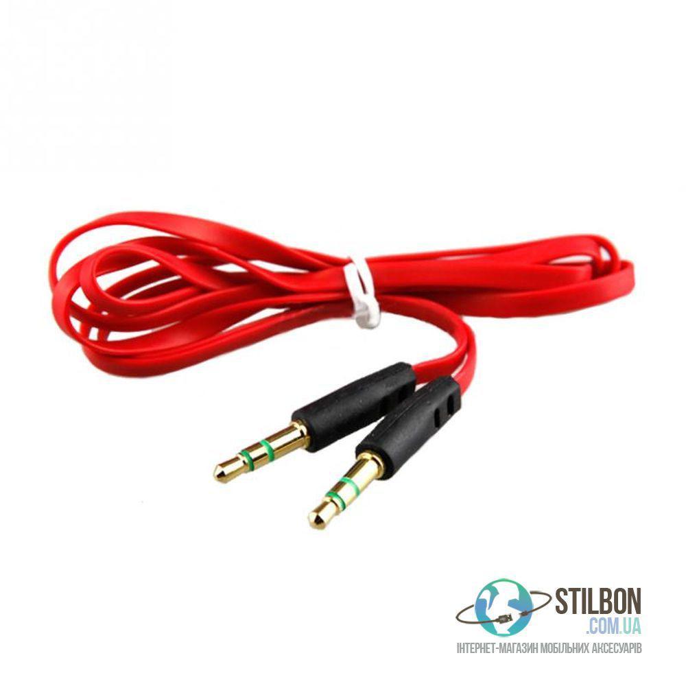 AUX кабель MiniJack 3.5 mm F - MiniJack 3.5 mm F 1m Red