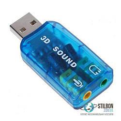 Внешняя звуковая карта USB 5.1 3D Sound card