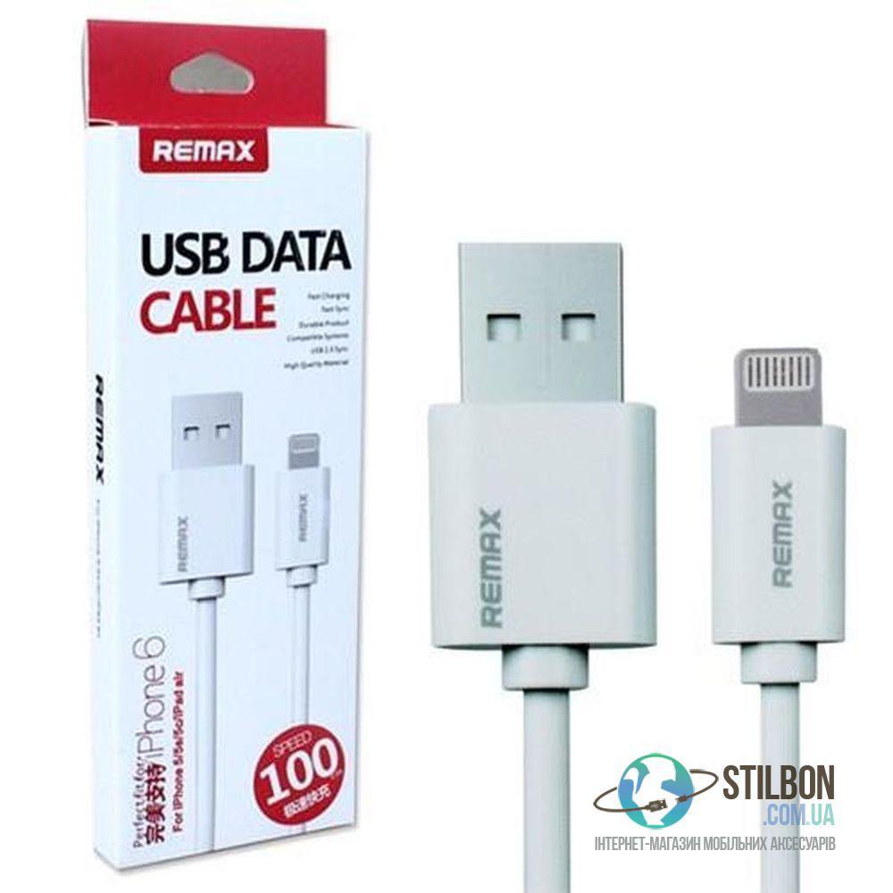 REMAX USB Data Cable Lightning кабель для Apple iPhone 5S/SE/6S/7 plus 1м