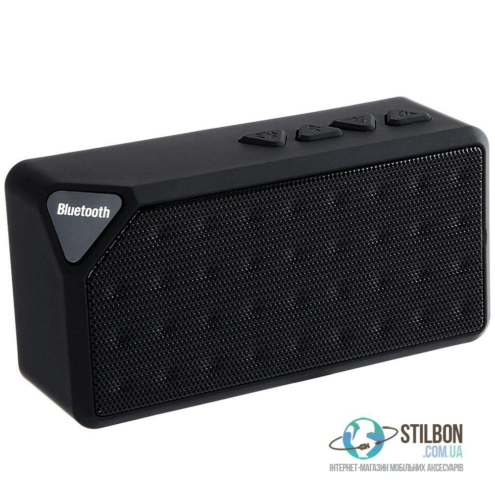 Портативная Аудио-колонка Bluetooth/AUX/TF-card/FM X3 Black