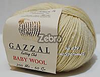 Пряжа для вязания Baby wool Gazzal №829