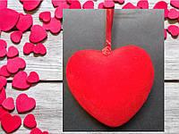 Валентинка сердечко из велюра