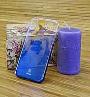 Переливной чехол на айфон X Baseus темно синий